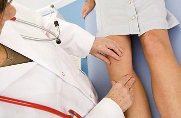 Проверка суставов ног