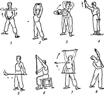 Упражнения ЛФК при трамировании плеча